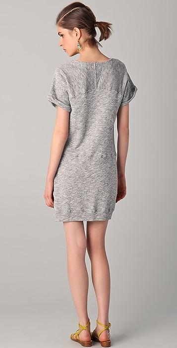 920af801ecf ... C C California Short Sleeve Terry Sweatshirt Dress ...