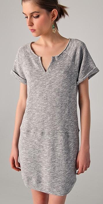 C&C California Short Sleeve Terry Sweatshirt Dress