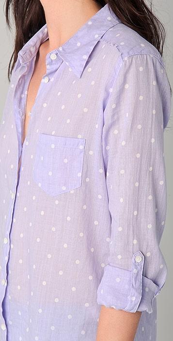 C&C California Vintage Dot Roll Sleeve Pocket Shirt