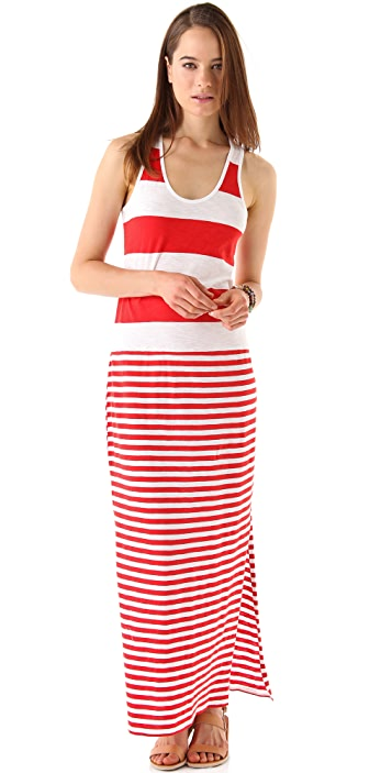 C&C California Racer Tank Maxi Dress