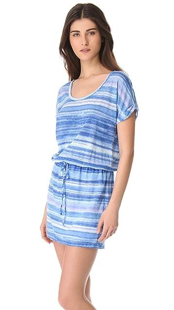 C&C California Roll Sleeve Dress with Cutout