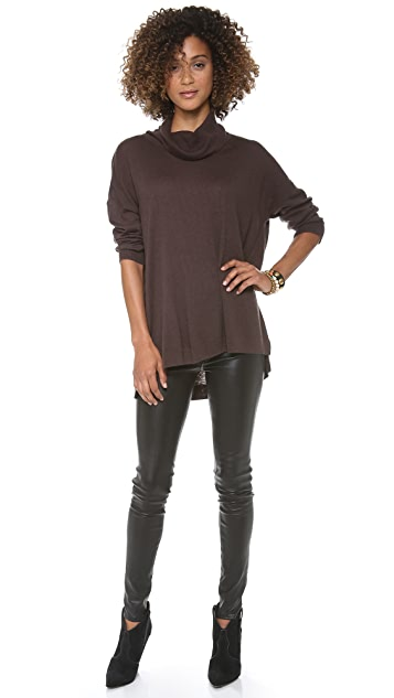 C&C California 3/4 Sleeve Cowl Neck Sweater