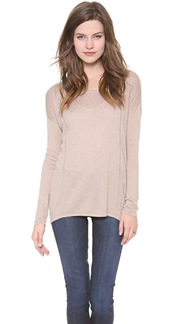 C&C California Long Sleeve High Low Sweater