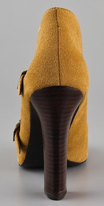 Candela Cap Toe Monk Strap Booties
