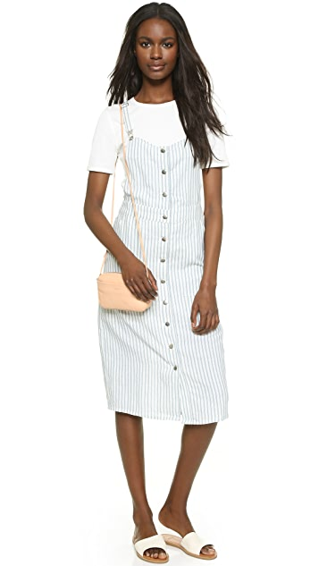 Capulet Front Button Down Overall Dress