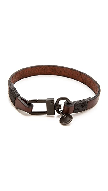 Caputo & Co. The Clean Leather Bracelet