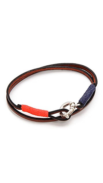 Caputo & Co. Wrap Bracelet with Silver Lock