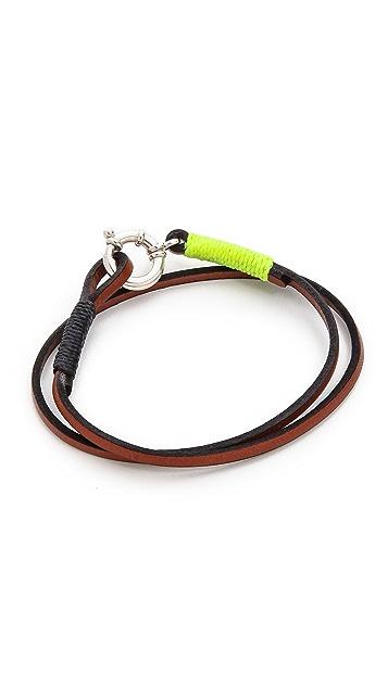 Caputo & Co. Wrap Bracelet with Silver Lock