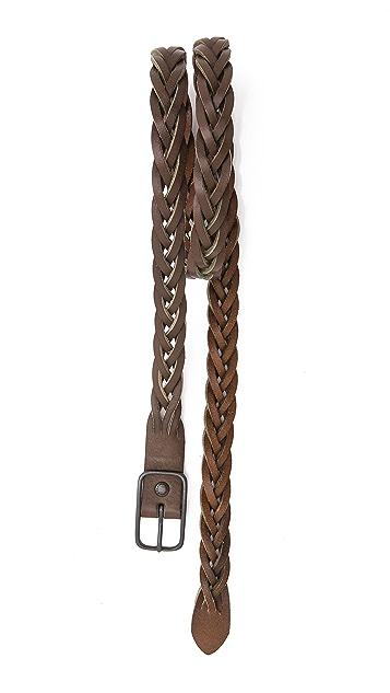 Caputo & Co. Leather Braid Belt