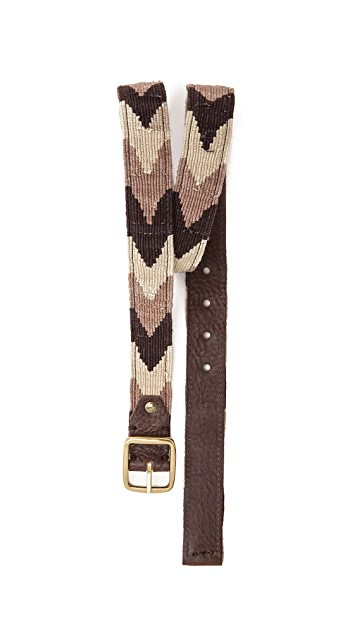 Caputo & Co. Reversible Chevron / Leather Belt