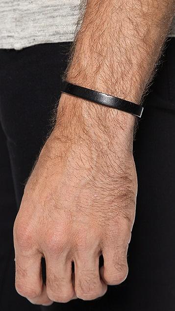 Caputo & Co. Clean Leather Bracelet
