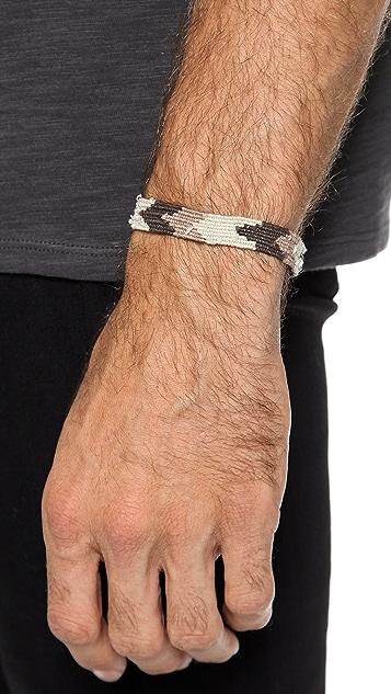 Caputo & Co. Handwoven Ribbon Bracelet