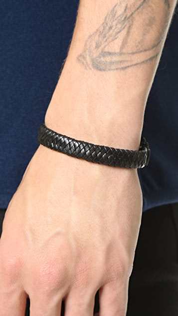 Caputo & Co. Braided Leather Bracelet