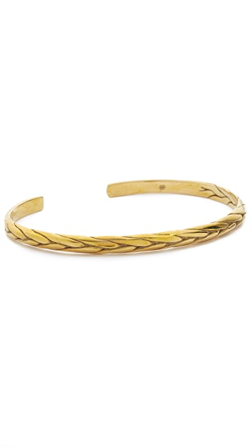 Caputo & Co. Brass Braided Cuff