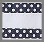 Colony/White Polka Stripe