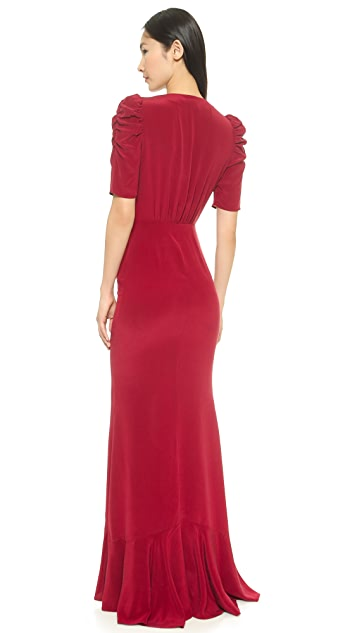Carmella Clara Maxi Dress with Shirring