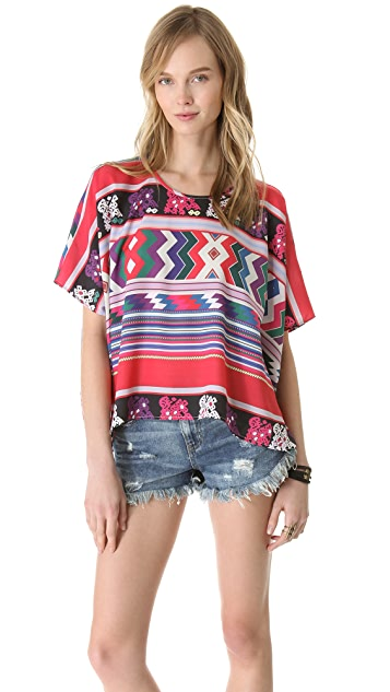 Carolina K Printed Poncho