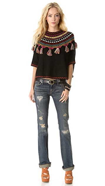 Carolina K Guate Fringe Sweater