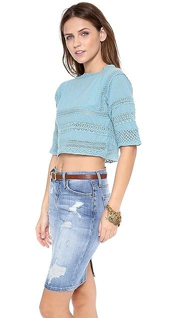 Carolina K Crochet Huichol Top