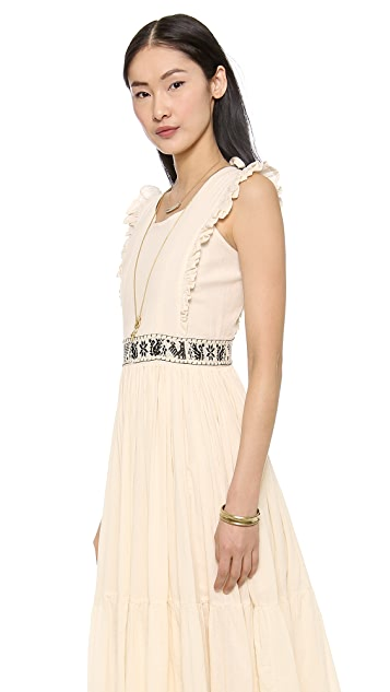 Carolina K Embroidered Peasant Dress