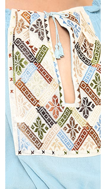 Carolina K Rumanian Embroidered Blouse
