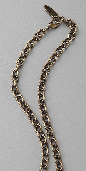 Carol Marie Long Vertical Shield Necklace
