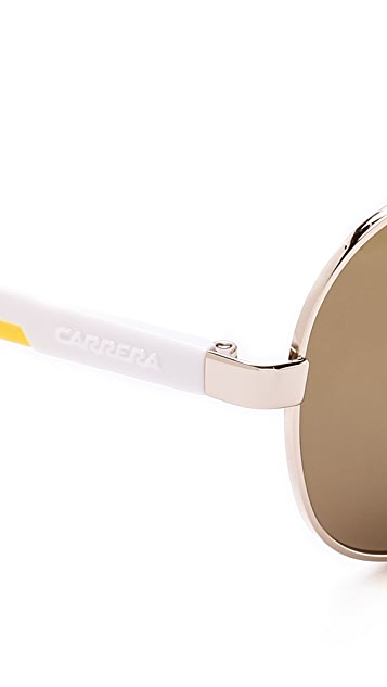 Carrera Mirrored Aviator Sunglasses