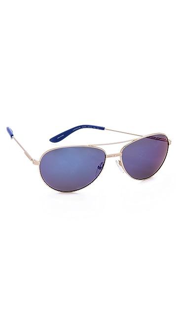 Carrera Mirrored Aviator Sunglasses
