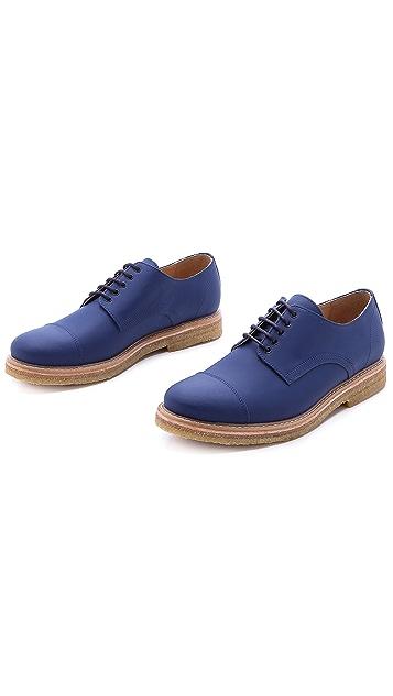 Carven Matte Cap Toe Derby Shoes