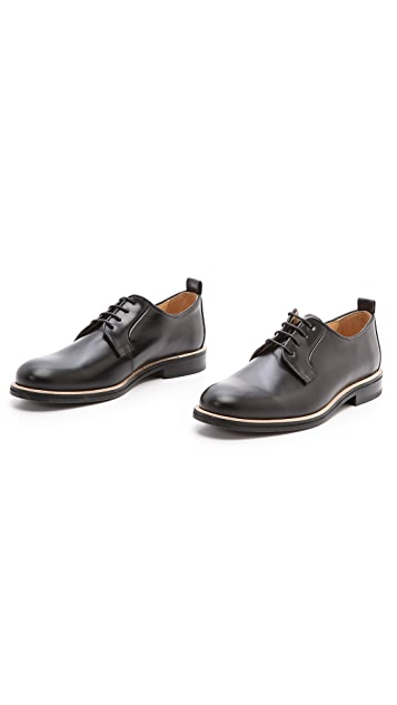 Carven Pull Leather Derby Shoes
