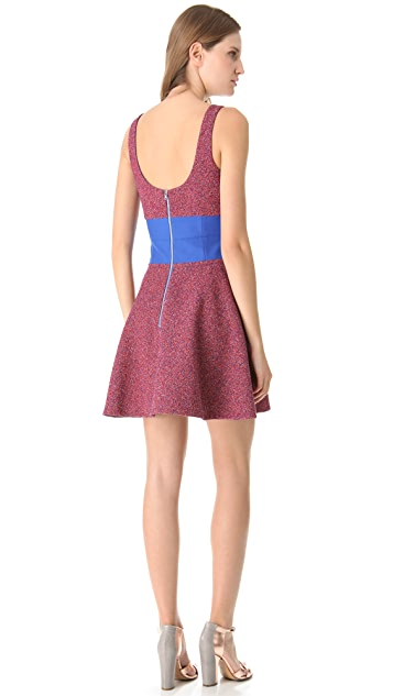 Carven Tweed Shaped Dress