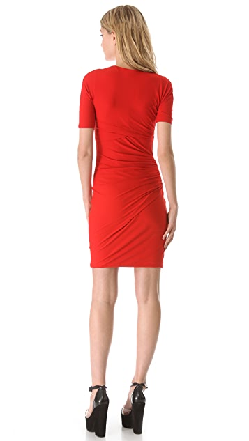 Carven Jersey Crisscross Dress