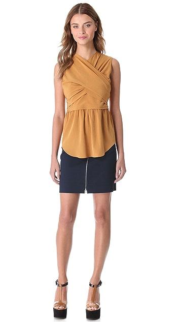 Carven Zip Front Miniskirt