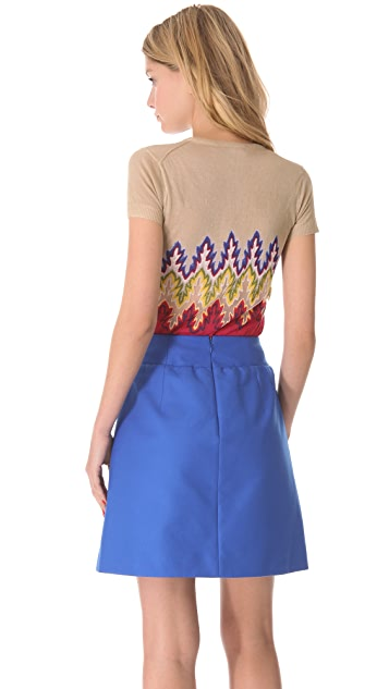 Carven Multicolor Cropped Sweater
