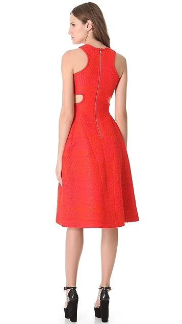 Carven Tweed Cutout Dress