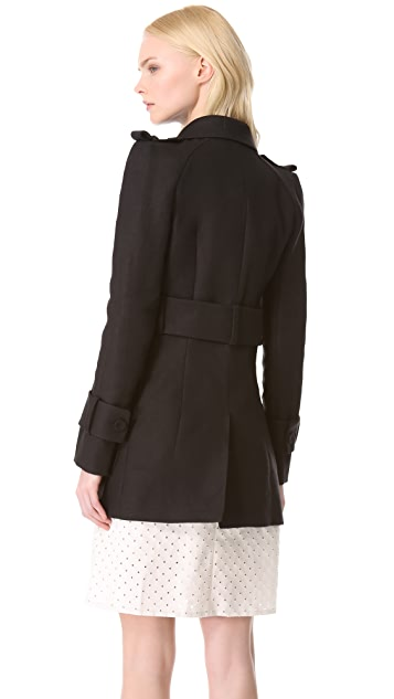 Carven Cutout Trench Coat