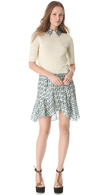 Carven Stamped Structured Skirt