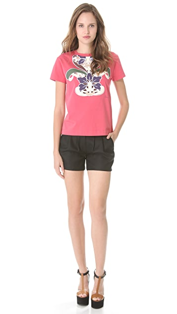 Carven Embroidered Jersey Top