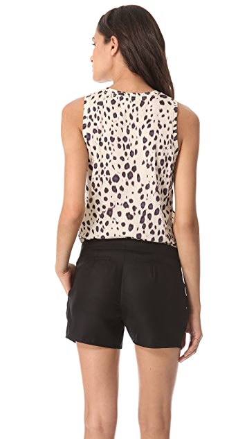 Carven Sleeveless Ikat Jersey Top