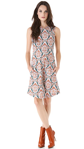 Carven Print Sleeveless Dress