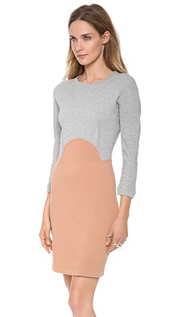 Carven Colorblock Long Sleeve Dress