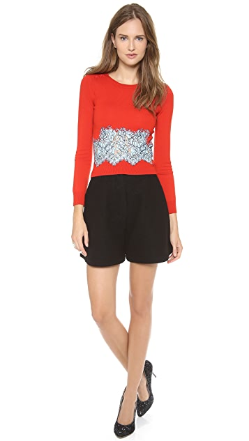 Carven Lace Knit Sweater