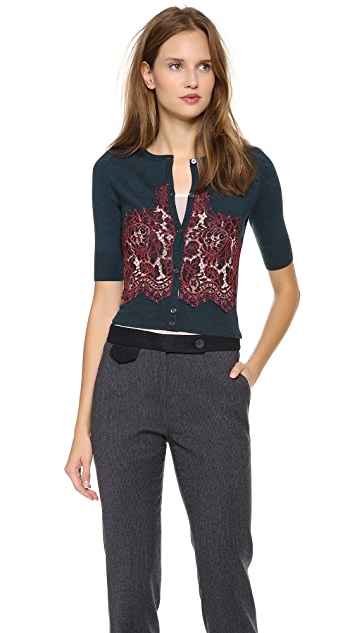 Carven Lace Knit Cardigan