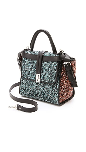 Carven Multicolor Tweed Handbag