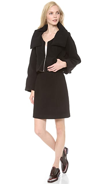 Carven Fleece Short Zip Jacket