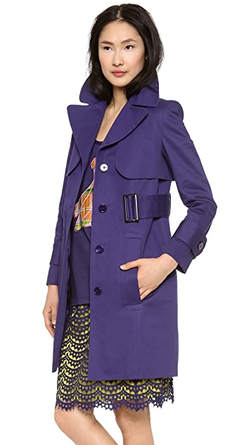 Carven Cotton Trench Coat