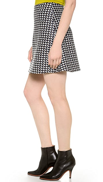 Carven Fancy Tweed Skirt