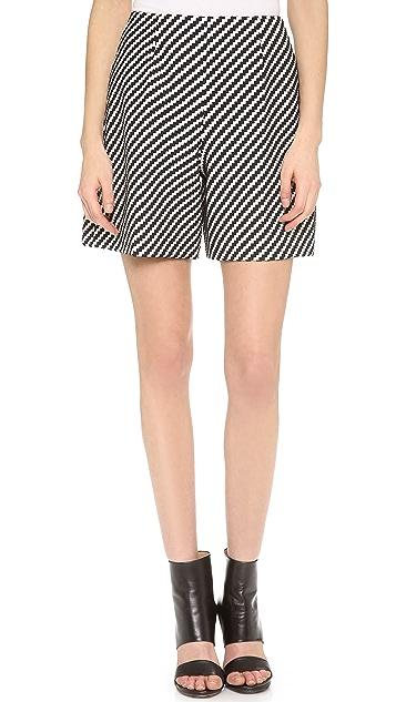 Carven Zigzag Tweed Shorts