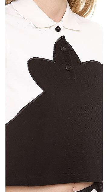 Carven Short Sleeve Top