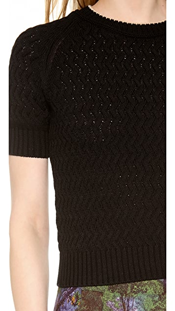 Carven Short Sleeve Sweater